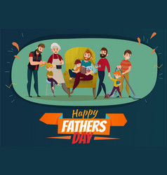 Fathers day poster vector