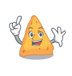 Finger nachos mascot cartoon style vector