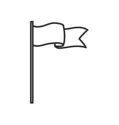 Flag banner insignia emblem symbol icon vector