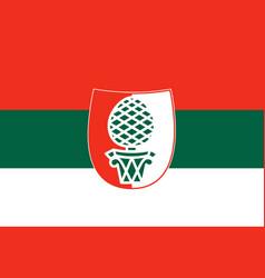 Flag of ansbach in middle franconia in bavaria vector
