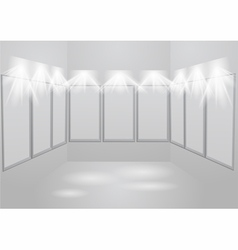 Gallery light vector
