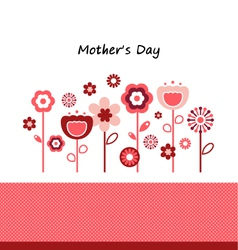 Greeting with flowers for Mothers Day vector