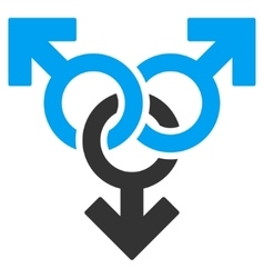 Group Gay Sex Flat Icon vector image