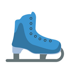 Ice skate sport leisure vector