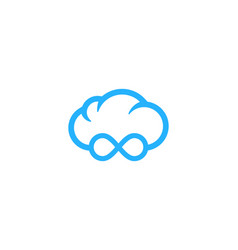 infinity weather and season logo icon design vector image