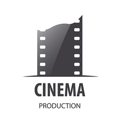 Logo for videotape film production vector