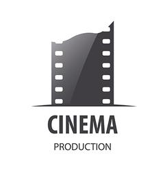 Logo for videotape film production vector