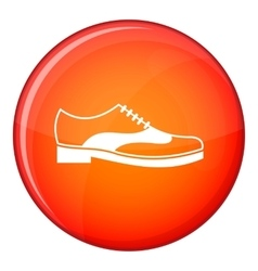 Men shoe with lace icon flat style vector