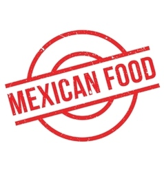 Mexican food rubber stamp vector
