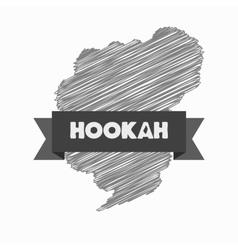 Modern hookah logo on a white background vector image