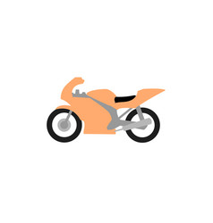 motorcycle logo - motorbike cross transport road vector image