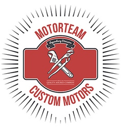Motorteam Custom motors T-shirt graphic vector image