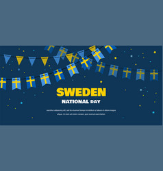 National day sweden independence day vector