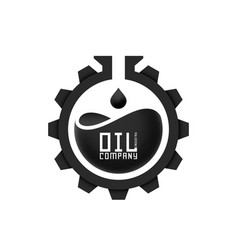 oil industries logo template vector image