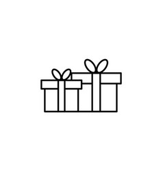 outline christmas gift icon symbol vector image