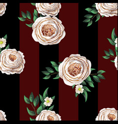 peachy english roses seamless pattern vector image