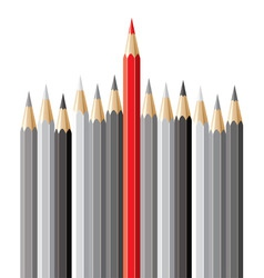 pencils leadership concept vector image