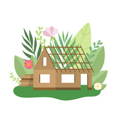 process building country house small cottage vector image