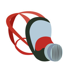 Respirator cover and shield flat icon drawing vector