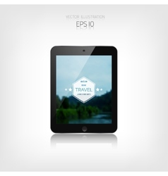 Responsive hipster travel web design Adaptive vector