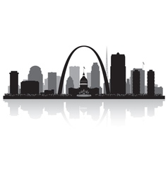 Saint Louis Missouri city skyline silhouette vector