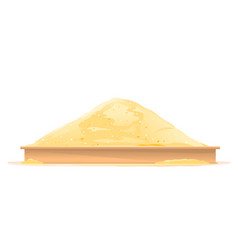 Sandbox in side view isolated vector