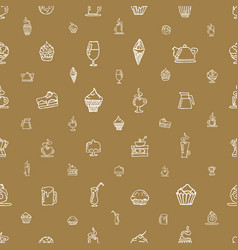 seamless brown pattern with white elements vector image
