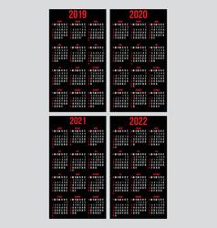 set calendar grid templates for business vector image