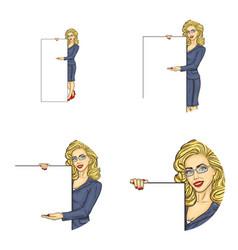 set of female round avatars vector image