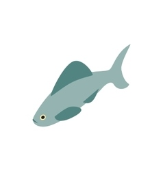 Shark icon isometric 3d style vector