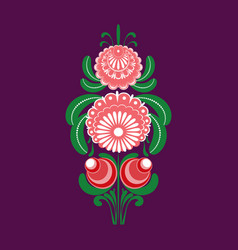 slavic folk traditional vegetable pattern element vector image