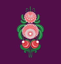 Slavic folk traditional vegetable pattern element vector