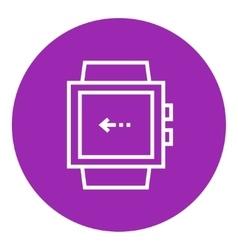 Smartwatch line icon vector