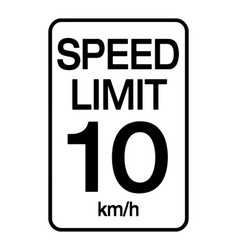 speed limit road sign speed limit is 10 km h vector image