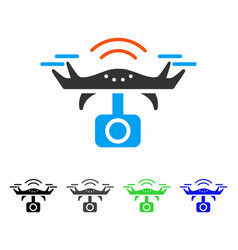 Spy drone flat icon vector