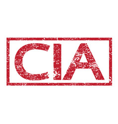 Stamp text cia vector