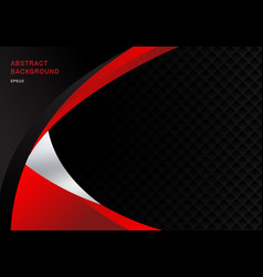template abstract red and black contrast vector image