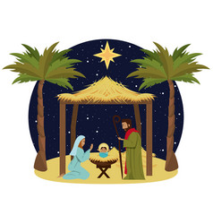 traditional christian christmas vector image