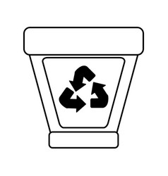 Trash can recycle eco friendly related icon image vector