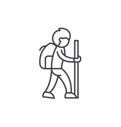 traveler line icon concept traveler linear vector image