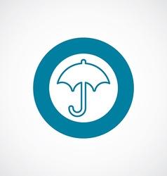 Umbrella icon bold blue circle border vector