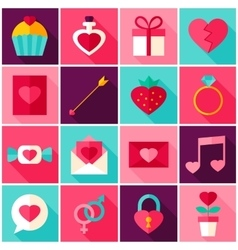 Valentine Day Colorful Icons vector