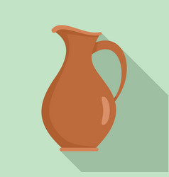 Water jug icon flat style vector