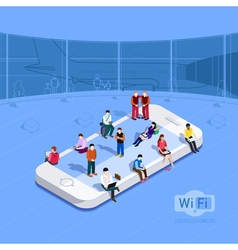 Wi-fi zone at airport vector