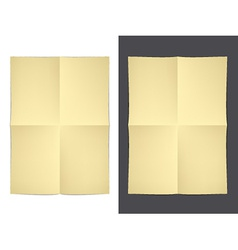 Yellow folded paper vector