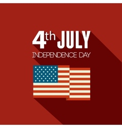 American Independence Day Flat design vector image vector image