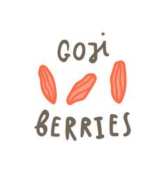 Goji berries superfood vector