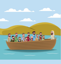 holy week biblical scene vector image