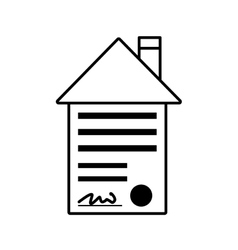 real estate contract buy house outline vector image