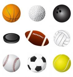 sport balls detail vector image vector image